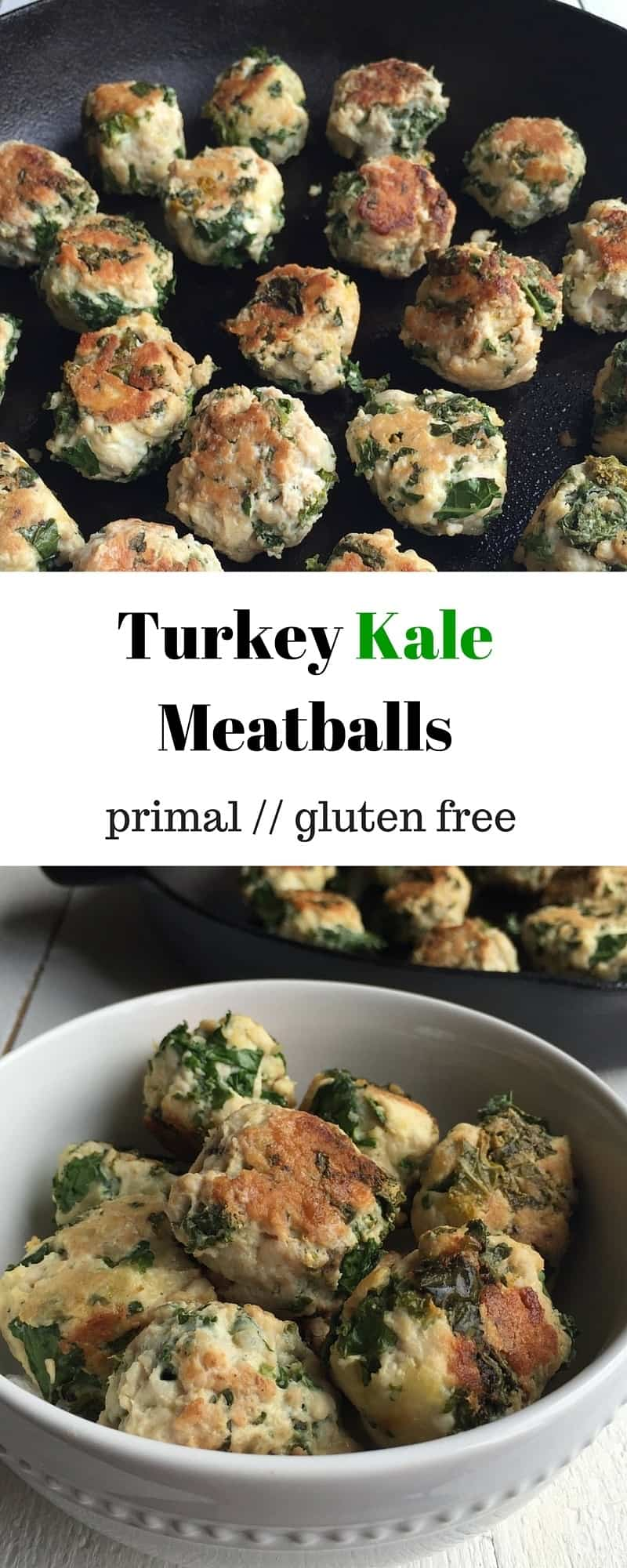 Turkey Kale Meatballs