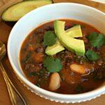 Hearty Vegan Chipotle Triple Bean Soup