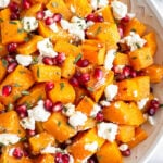Roasted Butternut Squash with Goat Cheese, Pomegranates, and Rosemary
