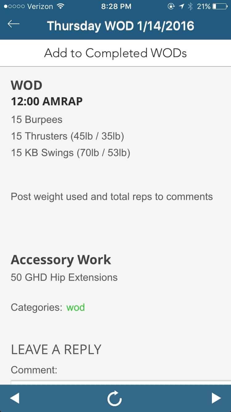 Making the Gains - 12 minute Burpee, Thruster, KB AMRAP