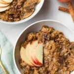 These Fig Apple Cinnamon Slower Cooker Steel Cut Oats combine the flavors of fall to provide a hearty and nutritious breakfast that feels like a treat - Eat the Gains