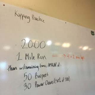 Making the Gains – 20 Minutes of Running, Cleans, & Burpees