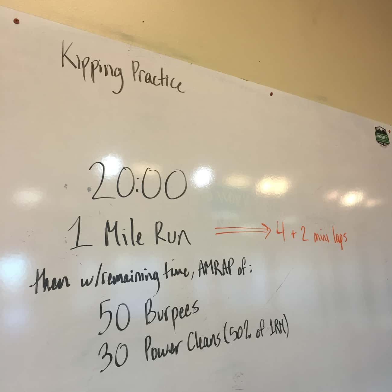 Making the Gains - 20 Minutes of Runnings, Cleans, & Burpees