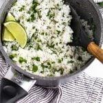 Coconut Cilantro Lime Rice Pinterest image