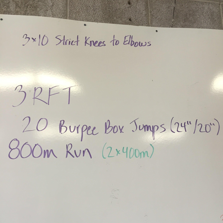 Making the Gains - Burpee Box Jumps + Running