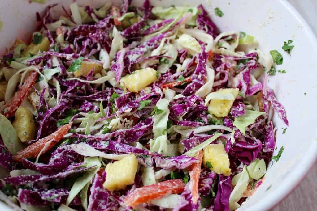 Pineapple Ginger Slaw
