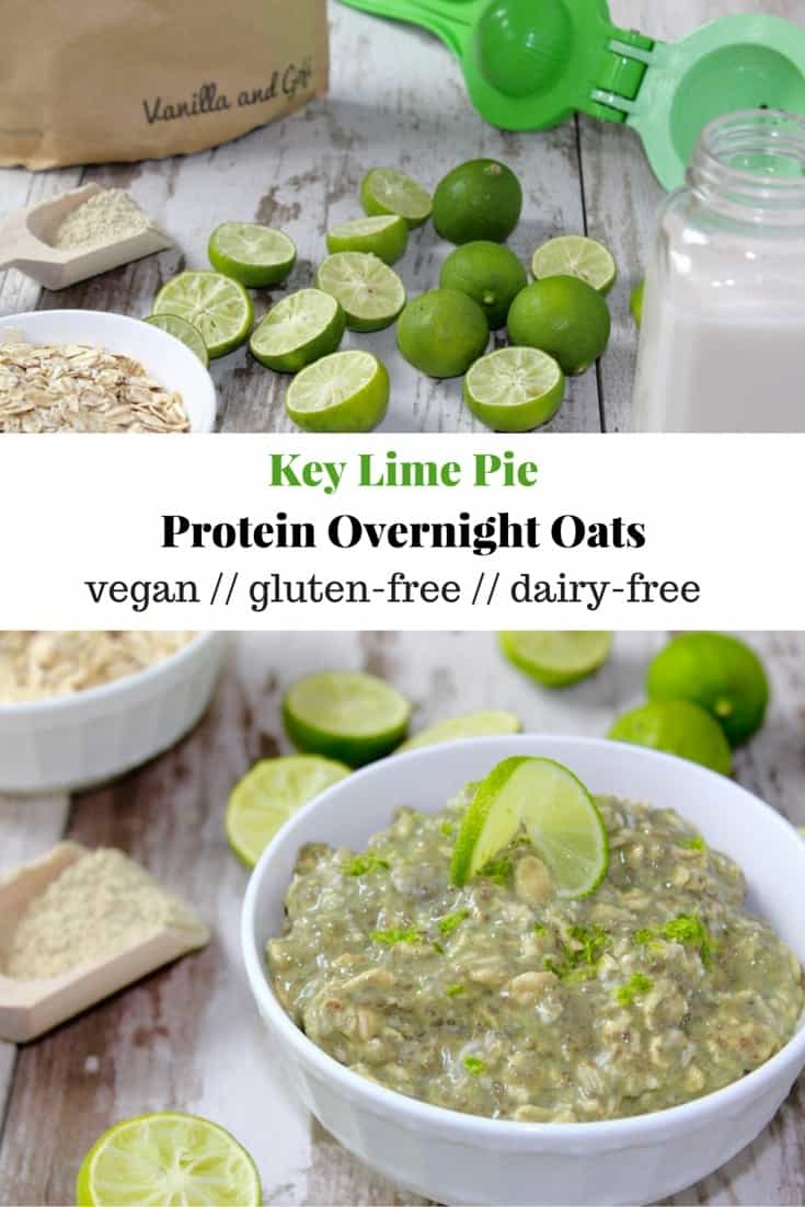 Key Lime Pie Protein Overnight Oats
