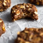 Chocolate peanut butter no bake cookies Pinterest image