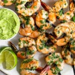 Cilantro lime shrimp Pinterest image