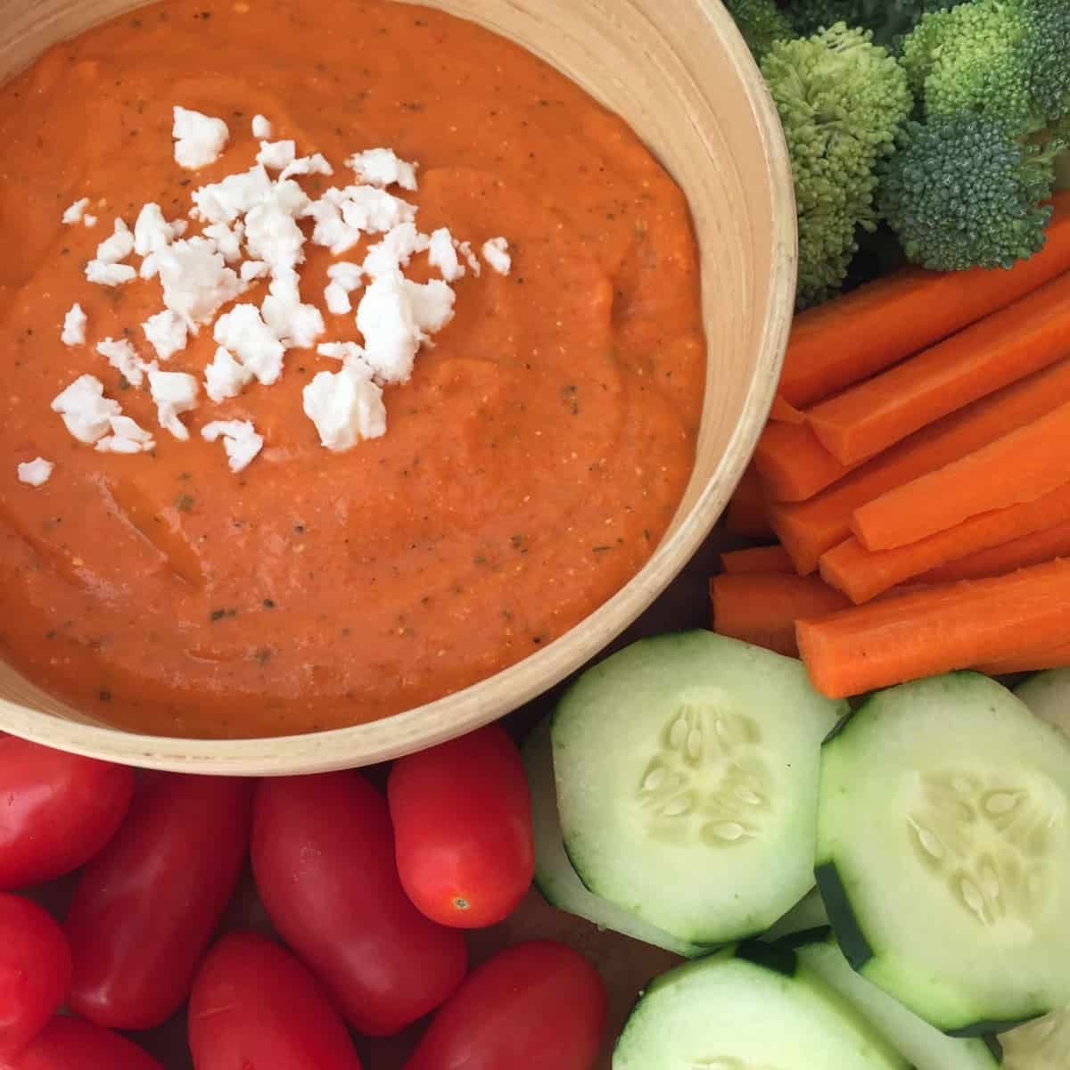 Feta and Roasted Red Pepper Dip by Noshing With The Nolands..