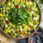 Spicy Pineapple Jicama Guacamole Pinterest image