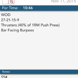 Making the Gains – Thrusters & Burpees