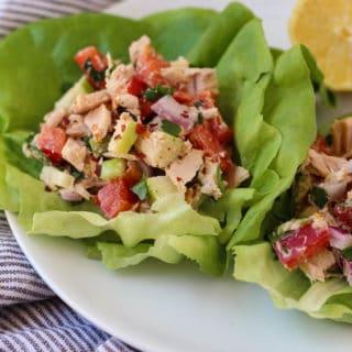 Tuna Tahini Apple Salad