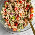 Tuna tahini salad Pinterest image