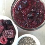 2 Ingredient Winter Berry Chia Jam