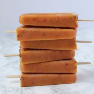 Ginger Peach Popsicles