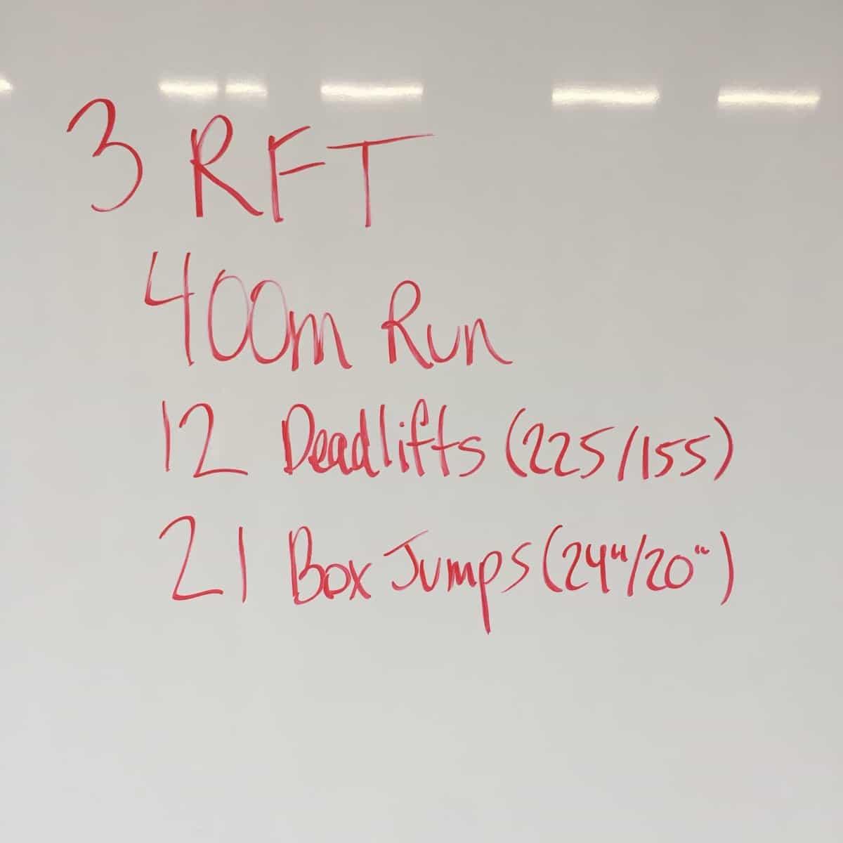 Running, Deadlifts, & Box Jumps