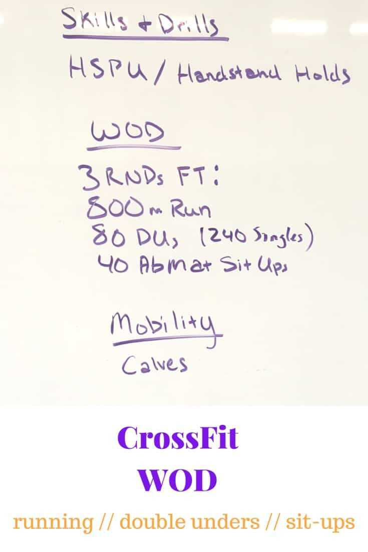 Running, Double Unders, & Sit-Ups