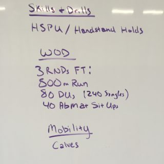 Making the Gains – Running, Double Unders, & Sit-Ups