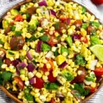 Raw Summer Corn Salad with Tomato & Avocado