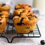 Sweet Potato Blueberry Protein Muffins Pinterest image