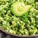 Avocado Cauliflower Rice Pinterest image