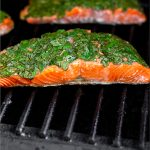 Herb Grilled Salmon Pinterest image