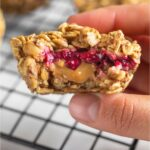 Peanut Butter & Jelly Oatmeal Cups Pinterest image