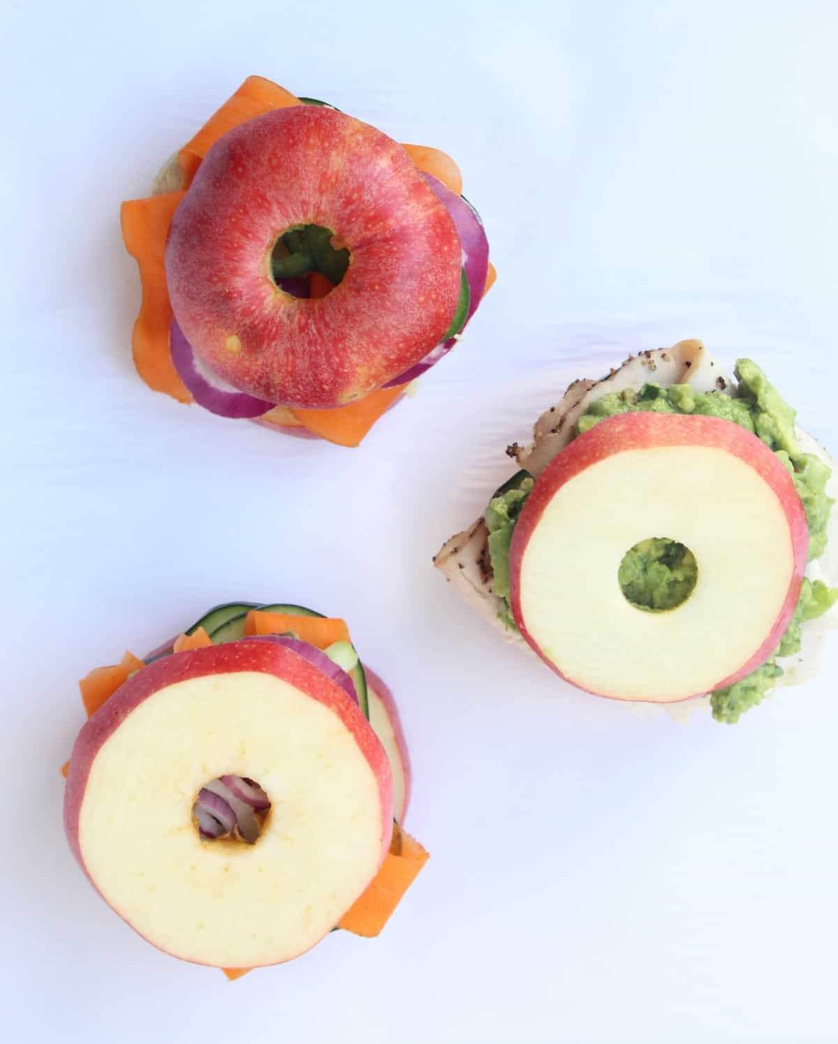Customizable Apple Bun Sandwiches