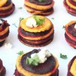 Roasted Sweet Potato & Beet Stacks