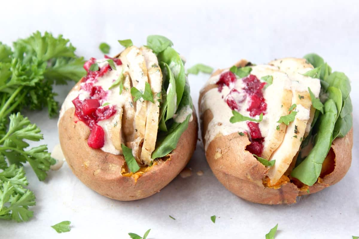 Thanksgiving Leftovers Recipe: Stuffed Sweet Potatoes