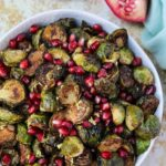 Ginger & Balsamic Roasted Brussels Sprouts with Pomegranates