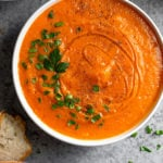 Roasted Red Pepper & Squash Soup Pinterest image