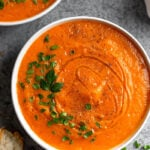 Roasted Red Pepper & Squash Soup