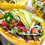 Taco Spaghetti Squash Boats (Paleo/Whole30)