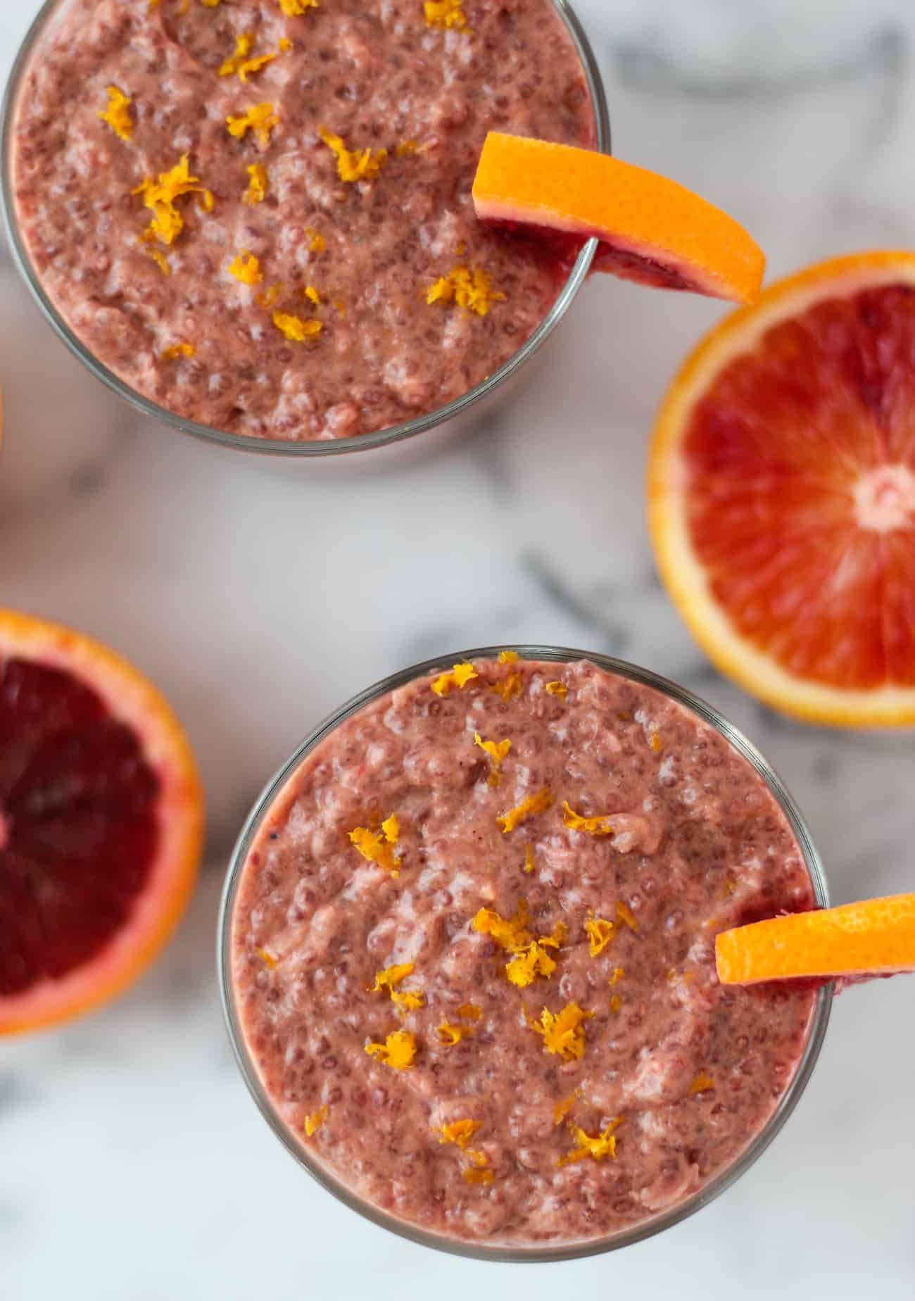Blood Orange Chia Pudding