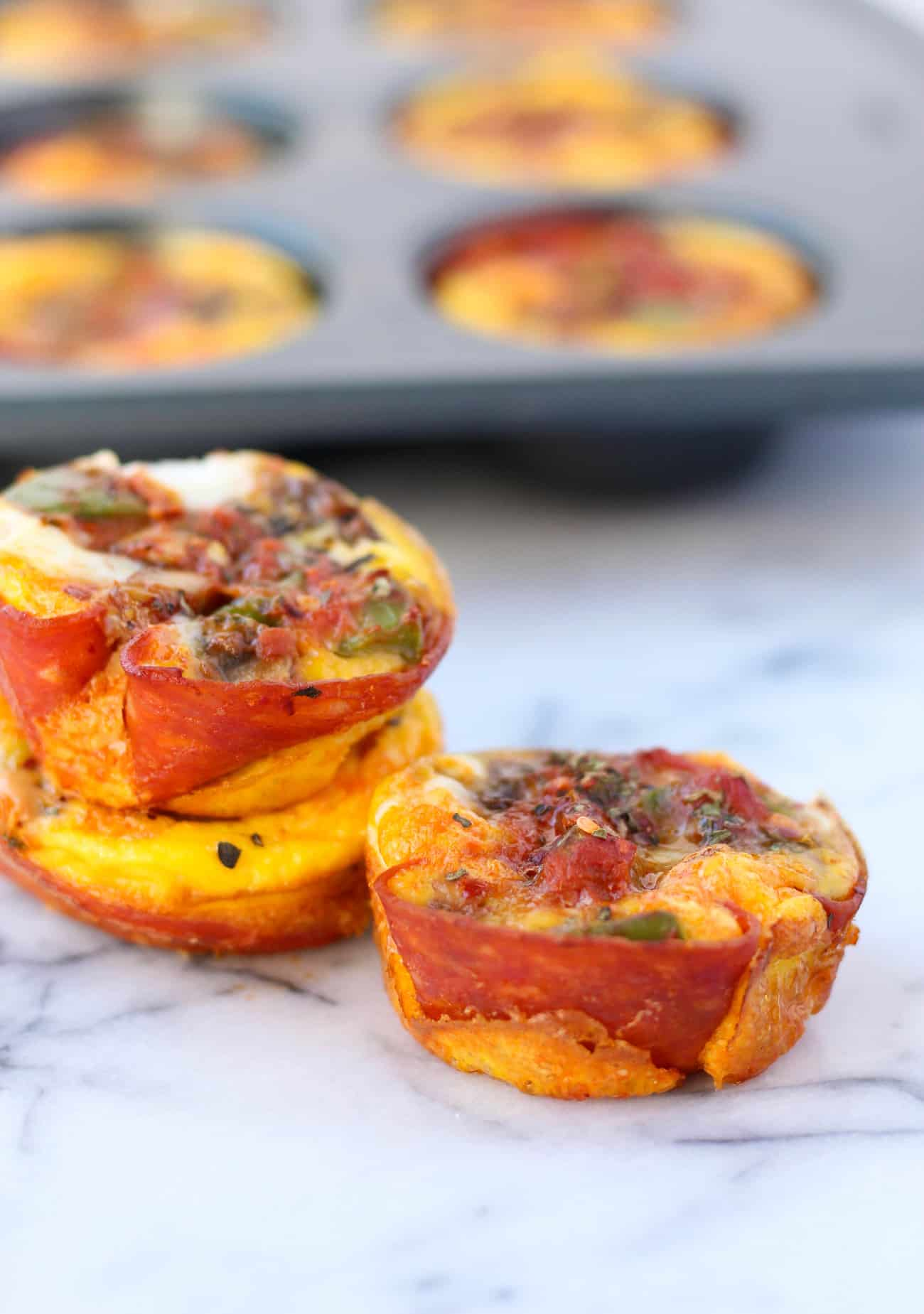 Pepperoni Pizza Egg Cups