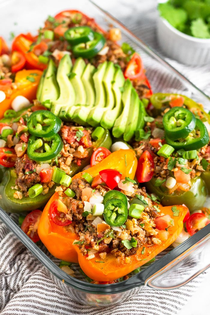 Beef And Rice Stuffed Peppers Paleo Whole30 Eat The Gains