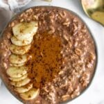 Chocolate Peanut Butter Overnight Oats (Vegan)