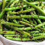 Sesame Garlic Green Beans Pinterest image