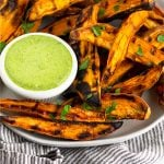 Grilled Sweet Potato Fries Pinterest image