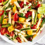 Tomato Jicama Salad with Mango & Jalapeños Pinterest image