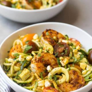 Southwest Shrimp Zucchini Noodles