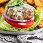 Whole30 turkey burgers Pinterest image