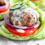 Paleo Jalapeño Ranch Turkey Burgers