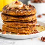 Paleo pumpkin protein pancakes Pinterest image