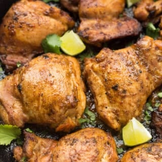 Cast Iron Ginger Lime Chicken Thighs