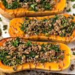 Stuffed Butternut Squash Pinterest image