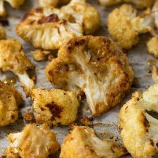 Maple Tahini Roasted Cauliflower