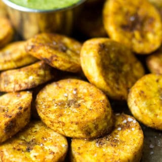Sweet & Spicy Baked Plantains